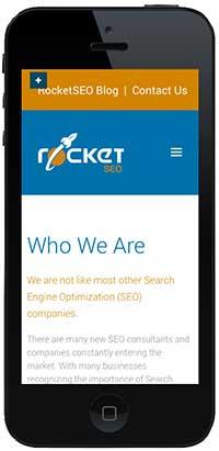 Rocket SEO website mobile responsive on iphone 5